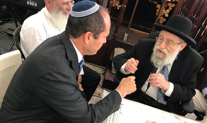Barkat meeting Rabbi Stern