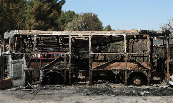 Burned out bus (archive image)
