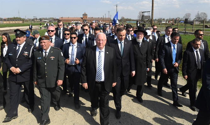 Rivlin at March of the Living