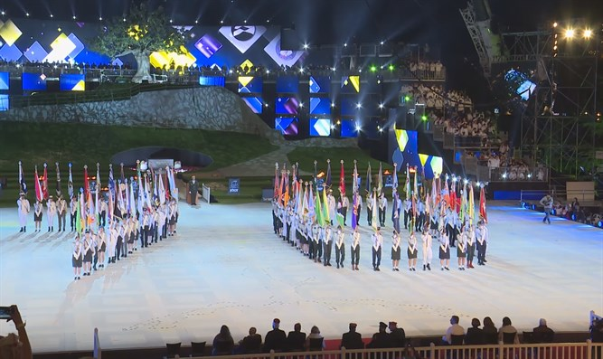 IDF standard bearers at final rehearsal
