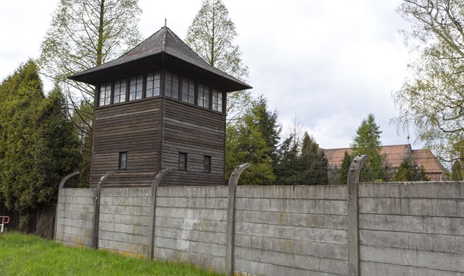 Auschwitz guard tower