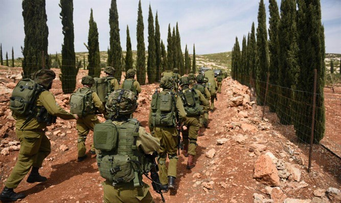 IDF soldiers in Binyamin (archive)