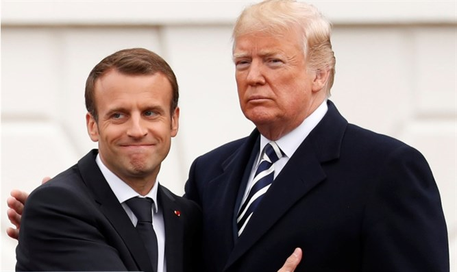 Trump and Macron at the White House