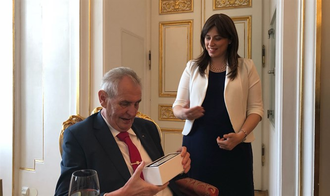 Milos Zeman and Tzipi Hotovely