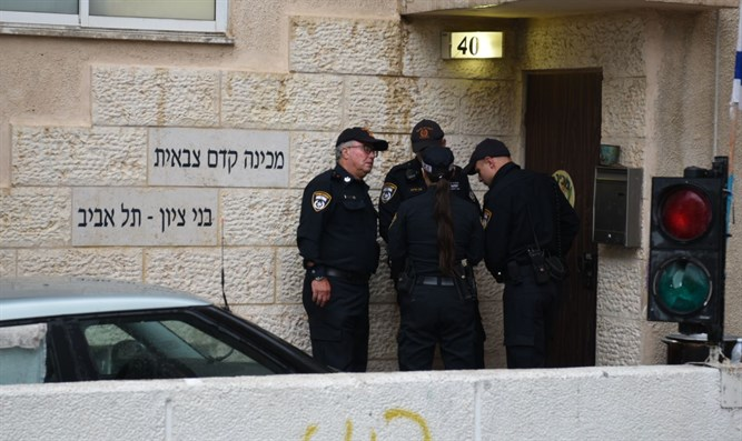 Police at Bnei Tzion academy