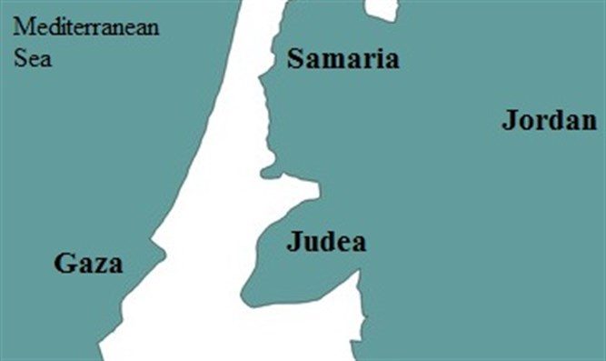map of Judea and Samaria