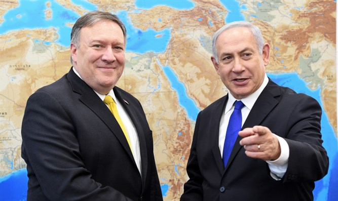 Mike Pompeo with Binyamin Netanyahu