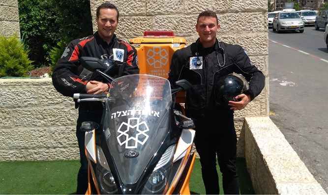 United Hatzalah's Friedson (l) and Meyer (r)
