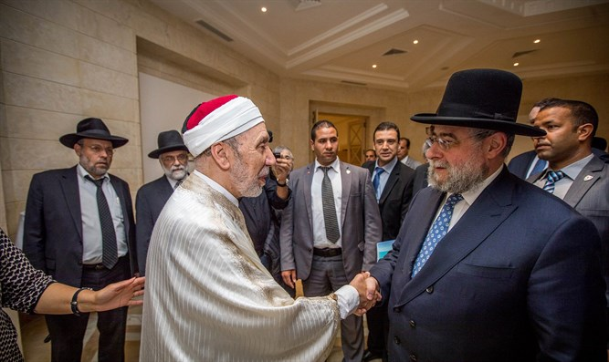 Rabbi Goldschmidt with the Grand Mufti