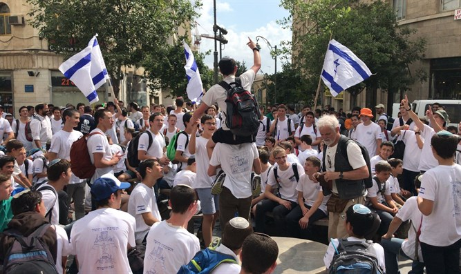 'Flag Dance' march through Jerusalem