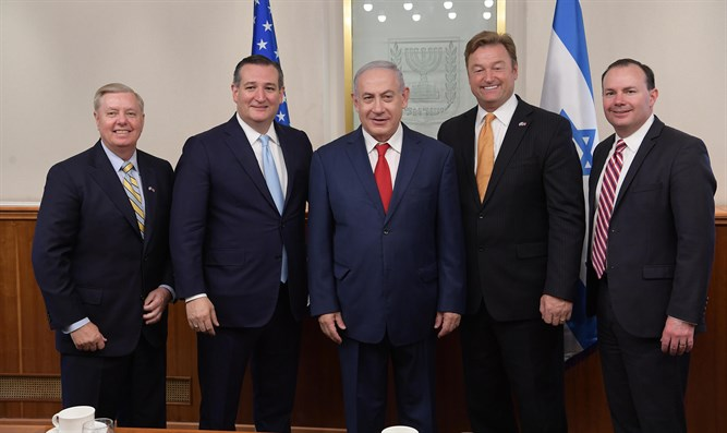 Netanyahu with US delegation