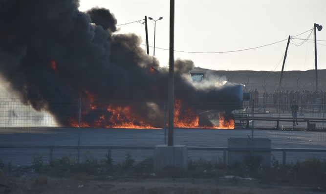 Arson at Kerem Shalom Crossing