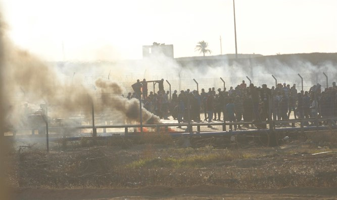 Confrontations on the Gaza border