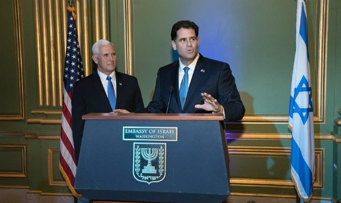 Ambassador Dermer and Vice President Pence at Israel Independence Day event in Washinton