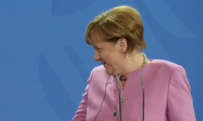 Merkel at press conference in Berlin