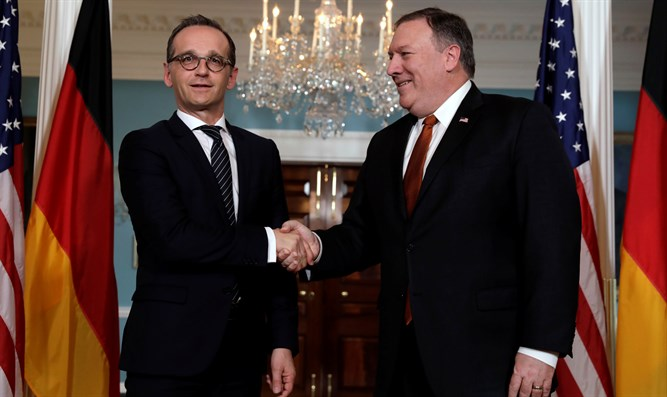 Heiko Maas and Mike Pompeo