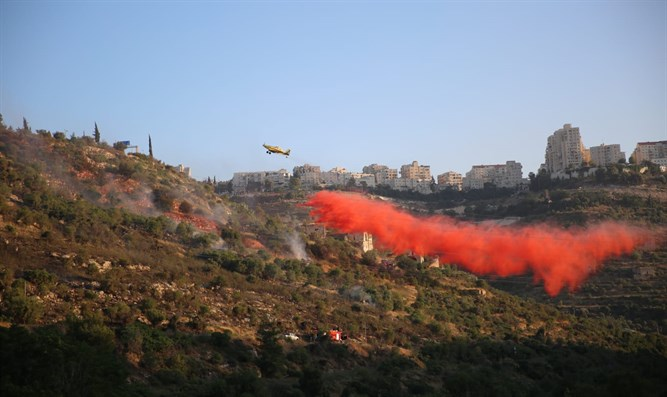 fire near Jerusalem