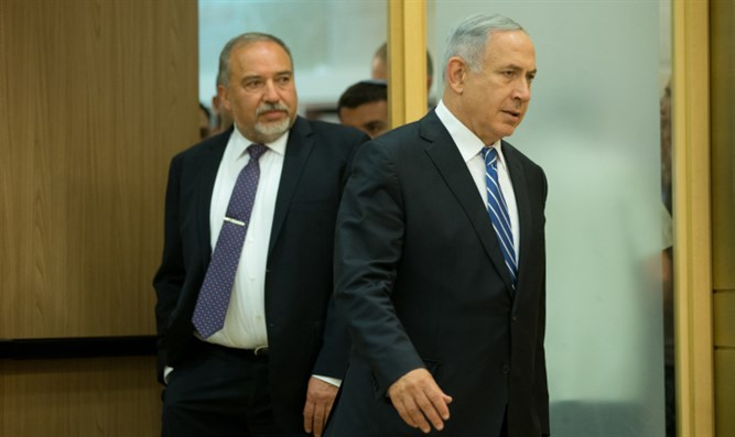 Binyamin Netanyahu and Avigdor Liberman
