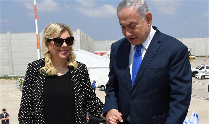 Netanyahu and his wife leave for Europe