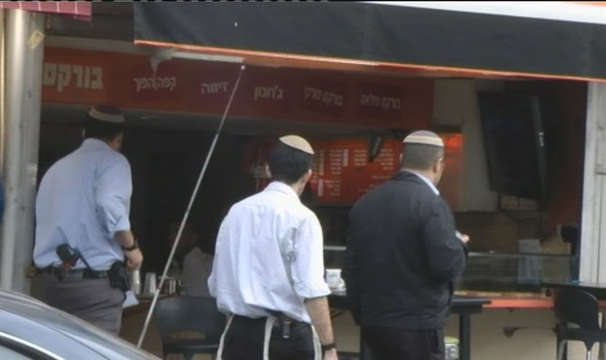 Kashrut inspectors in action