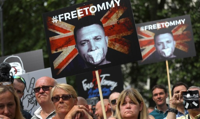 Pro-English Defence League (EDL) founder Tommy Robinson demonstration in London