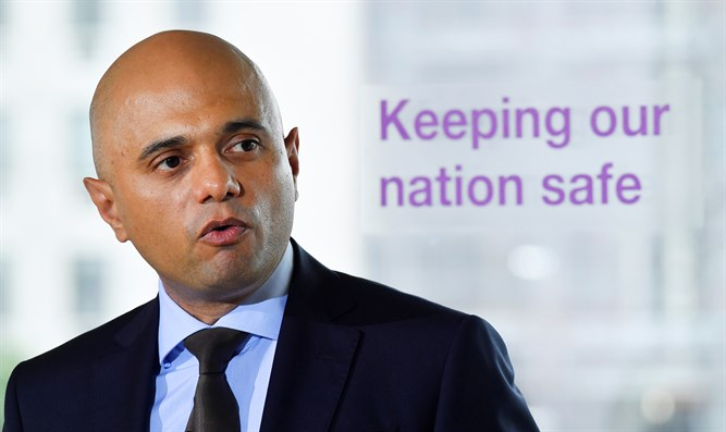 British Home Secretary Sajid Javid