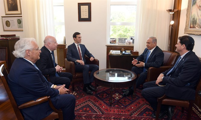 Netanyahu with Greenblatt, Kushner, Friedman and Dermer