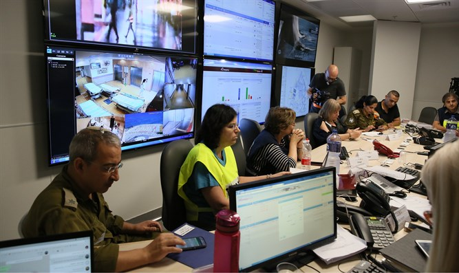 The underground emergency center at Rambam Hospital