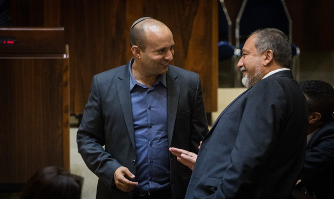 Liberman (r) and Bennett (l)
