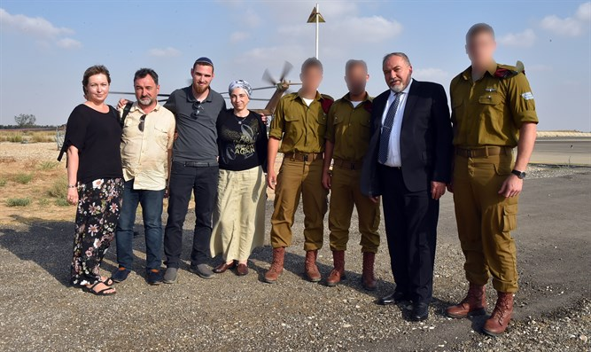 Liberman with family and friends of Ronen Lubarsky