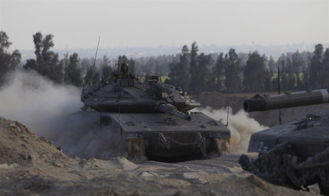 IDF tanks operating in the north