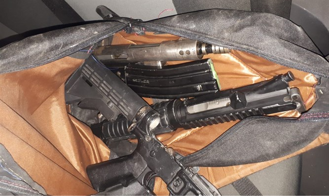Weapons seized in Shuafat