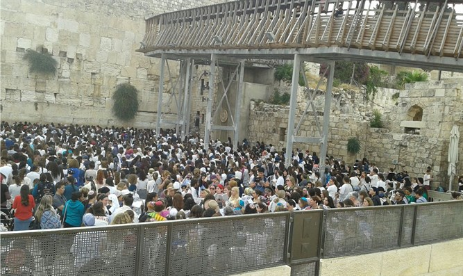 Prayers at Western Wall this morning