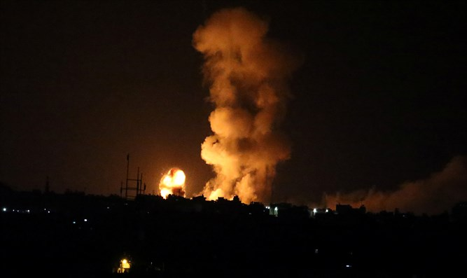 Israeli air strike in southern Gaza