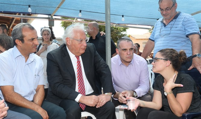 Ambassador Friedman with terror widow