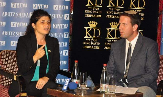 MK Sharen Haskel at Arutz Sheva event in Jerusalem