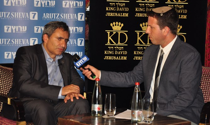 Minister Elkin at Arutz Sheva event in Jerusalem