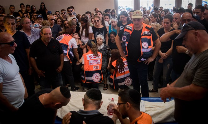 Funeral of 31-year-old Yotam Ovadya at Har Hamenuchot cemetery in Jerusalem