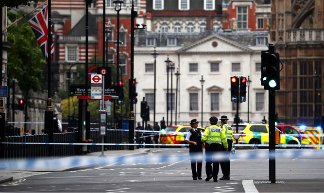 Scene of ramming in London