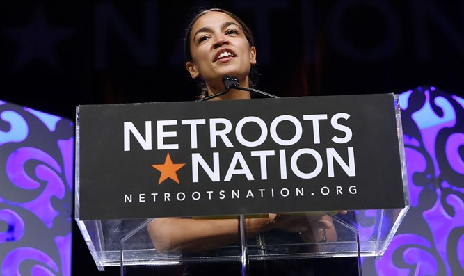 Alexandria Ocasio-Cortez speaks at the Netroots Nation annual conference