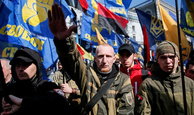 Ukraine's rightist parties and movements protest against oligarchs in Kiev