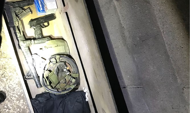 Weapon cache uncovered by Israeli security forces