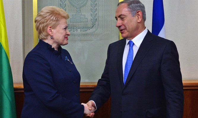 President of Lithuania Dalia Grybauskaitė during 2015 visit to Israel
