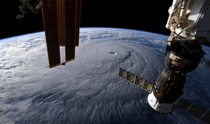 Hurricane Lane as seen from space station.