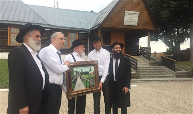 Unveiling ceremony for preservation project in Lubavitch