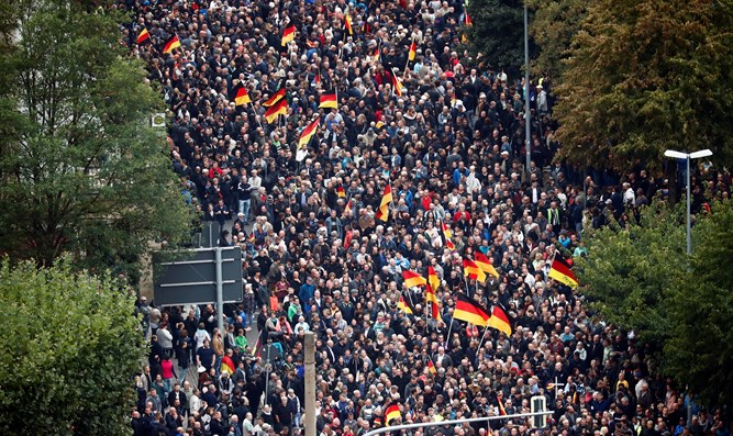 Demonstration against Muslim immigrants in Kamenitz, Germany