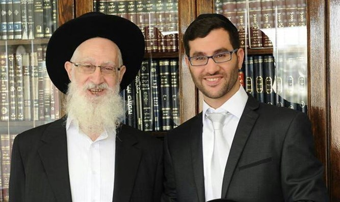 Rabbi Yehonatan Yosef with his late father, Rabbi Yaakov Yosef
