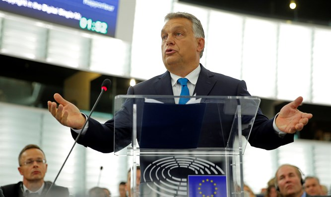 Orban addresses MEPs during debate on Hungary situation