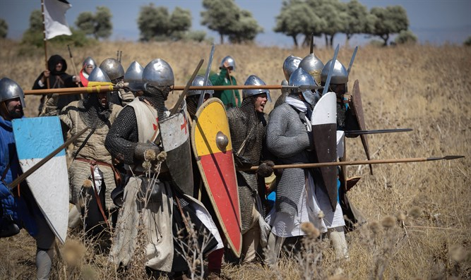 Israelis re-enact the Battle of Hattin at the historic Horns of Hattin site