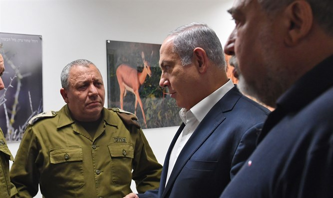 Eizenkot, Netanyahu, and Liberman